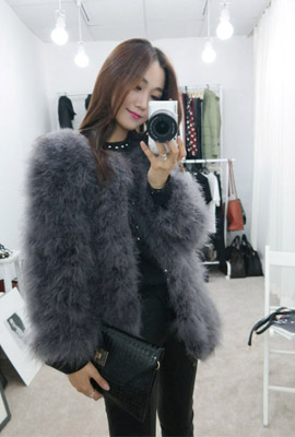 Ostrich Fur Jacket (7th stock)