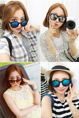 Mirrored sunglasses (5 items) (51 primary stock)