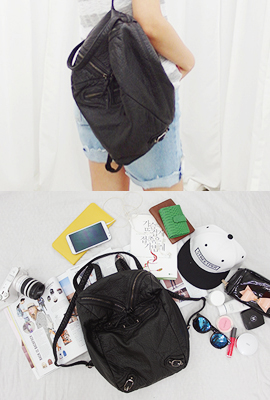 V zipper backpack (secondary stock)