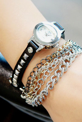 Layered Chain Watch