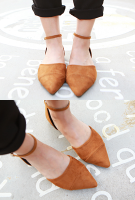 Cut nose pointed flat shoes (4th restocking)