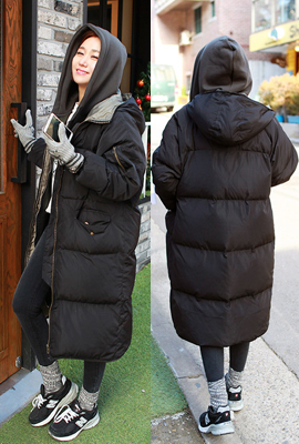 Hooded padded jumper (14th stock)