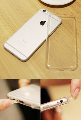 Ultra-thin Transparent Jelly Case (iPhone 6 only) (secondary stock)
