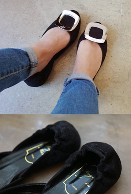 Square Banding Flat Shoes
