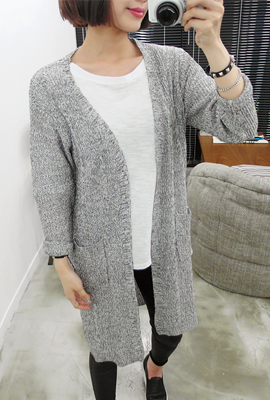 See-through Long Cardigan Twist (5th stock)
