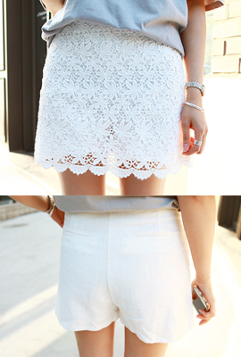 Linen lace skirt pants (4th restocking)
