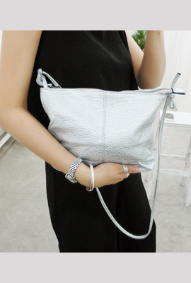 Knot cross lines leather bag (6th in stock)