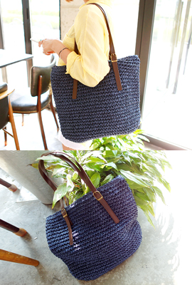 Big Square Straw Shoulder Bag