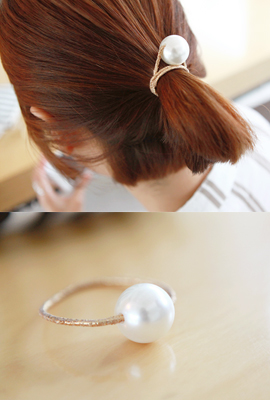 Big pearl gold hair strap (stock 11)