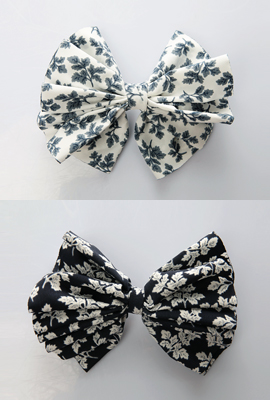 Leaf ribbon barrettes (3rd stock)