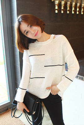Teuim color knit shoulder line (21 primary stock)