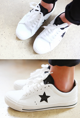 Star Leather Sneakers
