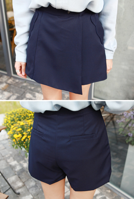 Two-button skirt trousers (secondary stock)