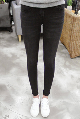 Wash skinny jeans heukcheong (3rd stock)