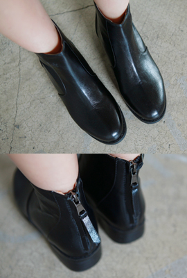 Back zipper Slim Ankle Boots (3rd stock)
