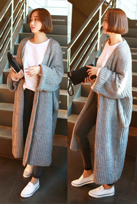 Loose knit cardigan (stock of 49 cars)