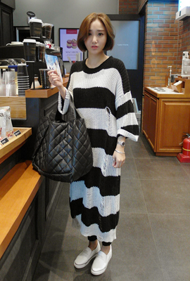 Dangara Damage Long Knit Dress (24th stock)