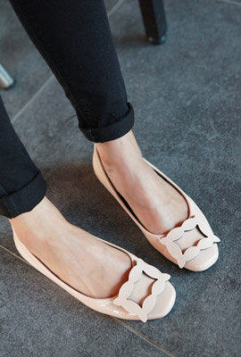 Curve Square Flat Shoes (3rd stock)