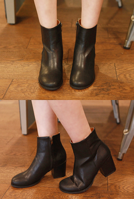 Simple Black Ankle Boots