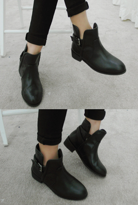Teuim banding straps Ankle Boots (12 th stock)