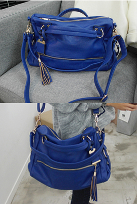 Blue tassel zipper bag (secondary stock)