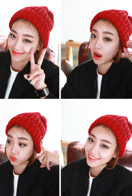 Simple weave beanie (36th stock)