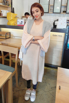 Wide Long Knit Dress (3rd stock)