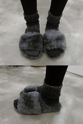 Real color wool slippers (secondary stock)