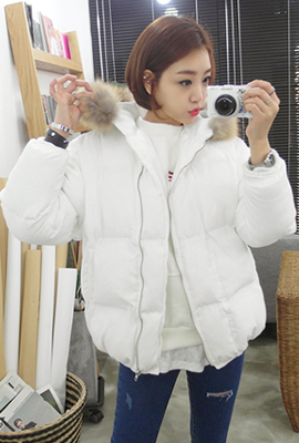 Real raccoon hooded padded jumper (23 cars in stock)