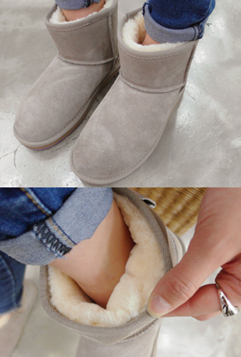 Real leather wool short boots (6th in stock)