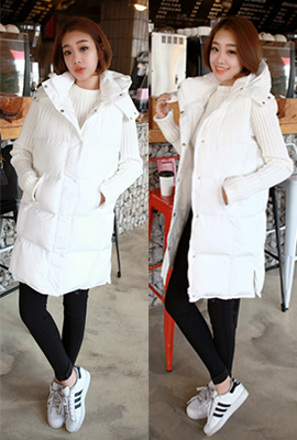 Top Long Padded Vest (33th stock)