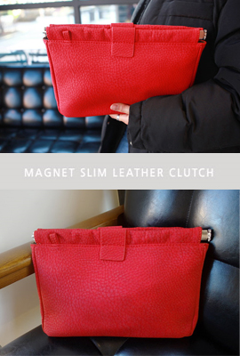 Slim leather clutch magnet (secondary stock)