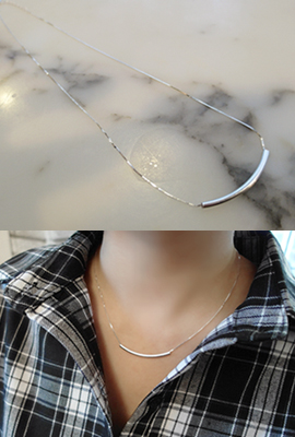 Silver Slim Necklace (restocked 6th)