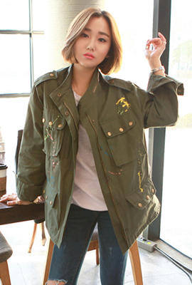 Color painting racing jacket (6th stock)