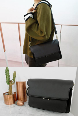 Square leather shoulder bag folder (5th stock)