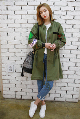 Unique Embroidery field image jacket (4th restocking)
