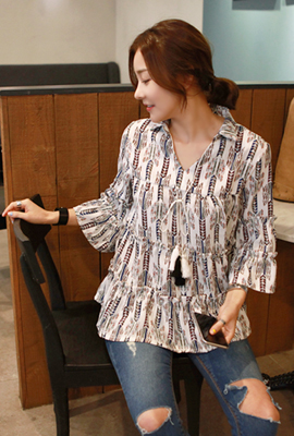 Kangkang V-neck blouse (24th stock)