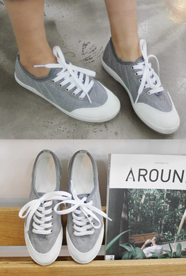 Basic cotton sneakers