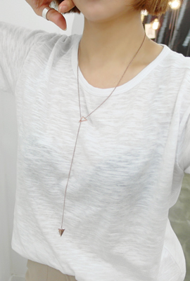 Triangle Long Chain Necklace (4th restocking)
