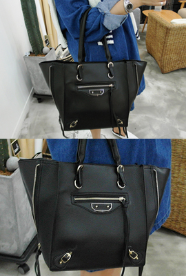 Side Zip Tote (secondary stock)