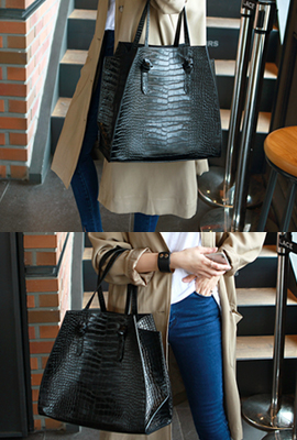 Big python tote bag (secondary stock)