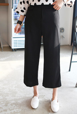Fake pocket banding wide pants (33 pieces stock)