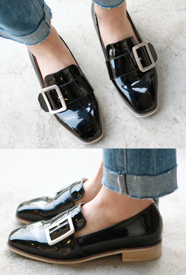 Big belt enamel loafers (3rd stock)