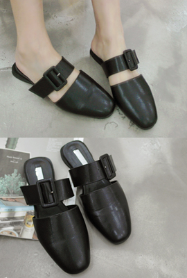 Buckle slippers (3rd stock)