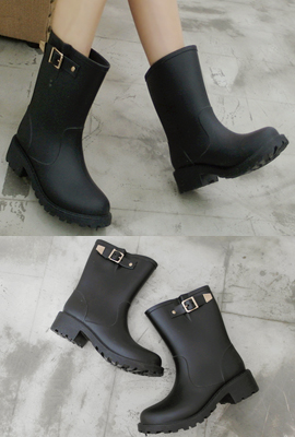 Buckle Rain Boots (14th stock)