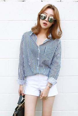 Pocket striped shirt (stock of 110 cars)