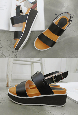 Two-strap sole sandals (5th stock)