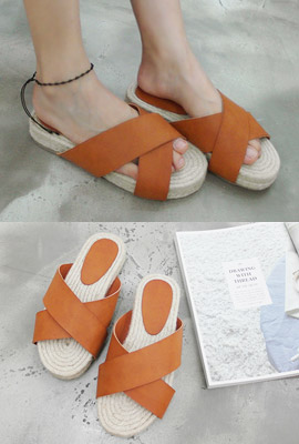 Strap Straw Slippers (secondary stock)