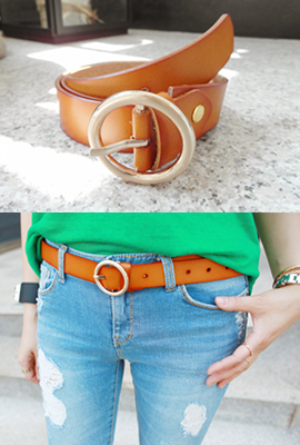 Real leather belt (18th stock)
