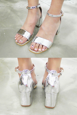 Ankle strap padded heel (4th stock)